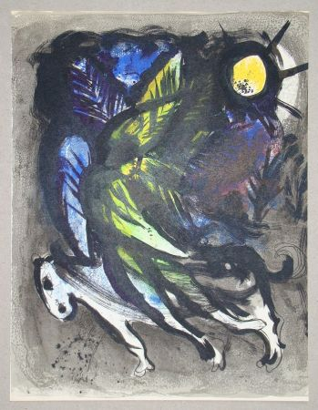 Lithographie Chagall - L'Ange