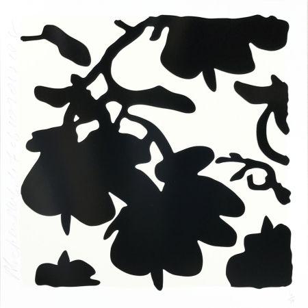 Siebdruck Sultan - Lantern Flowers (Black /white)