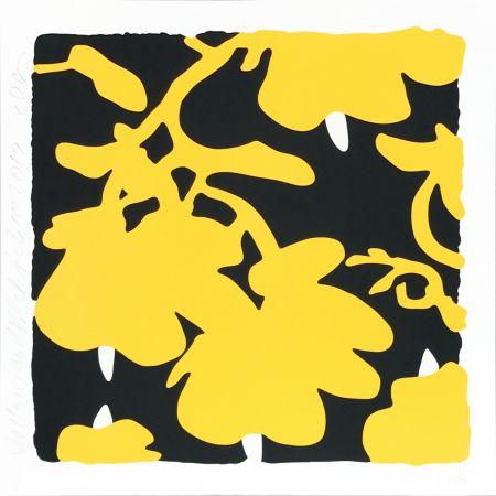 Siebdruck Sultan - Lantern Flowers (Yellow/black)
