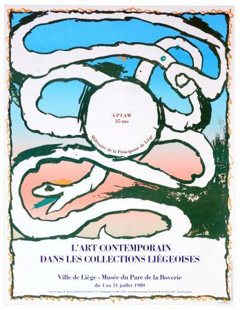 Plakat Alechinsky - L'art contemporain dans les collections liégeoises, 1980