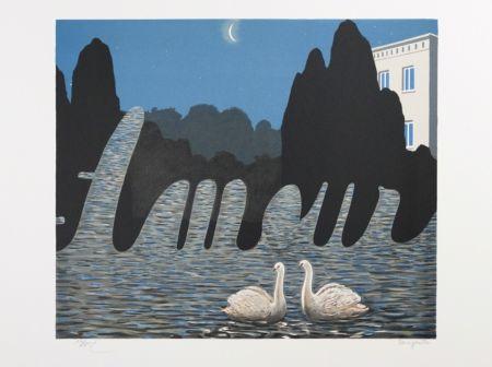Lithographie Magritte - L'Art de la Conversation