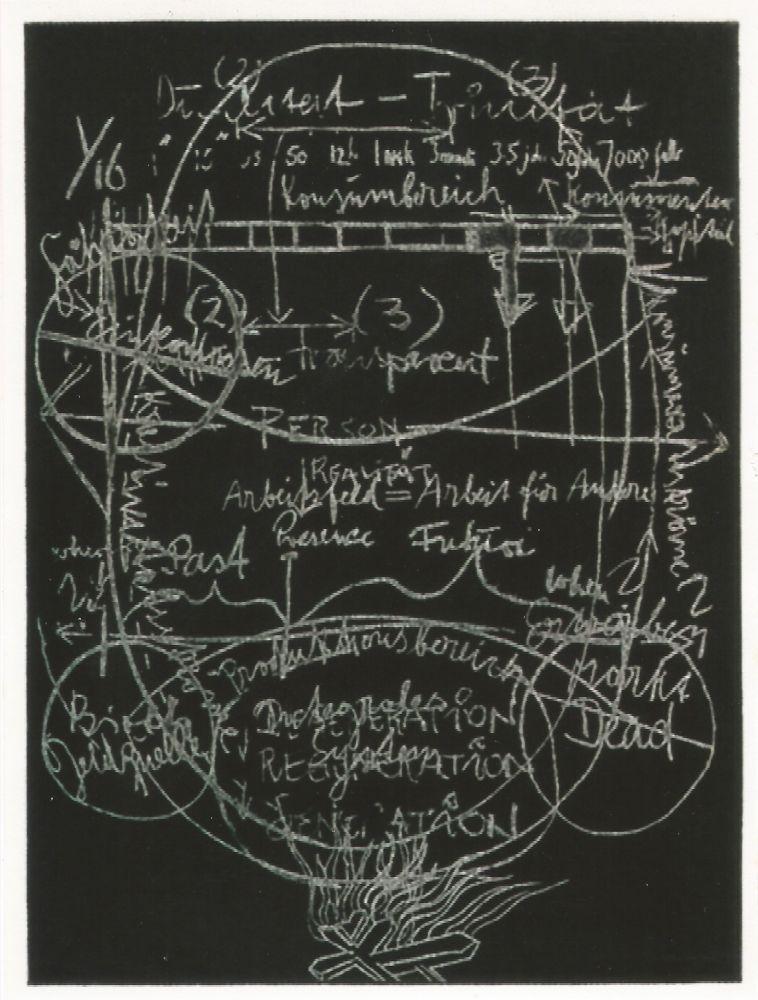 Aquatinta Beuys - L'arte è una zanzara dalle mille ali - III