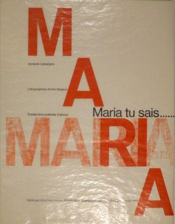 Illustriertes Buch Masson - LASSAIGNE, Jacques. Maria tu sais