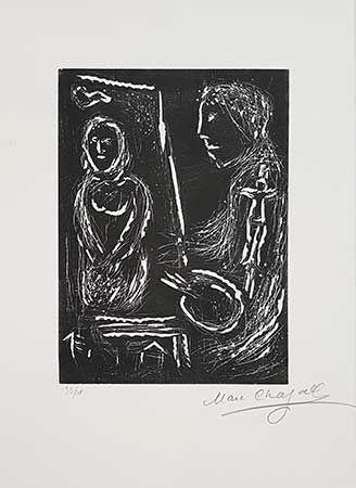 Linolschnitt Chagall - L'Atelier