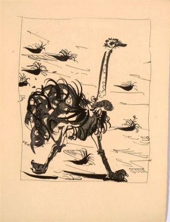 Aquatinta Picasso - L'autruche