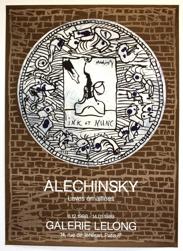 Lithographie Alechinsky - Lave Emaillée  Galerie Lelong