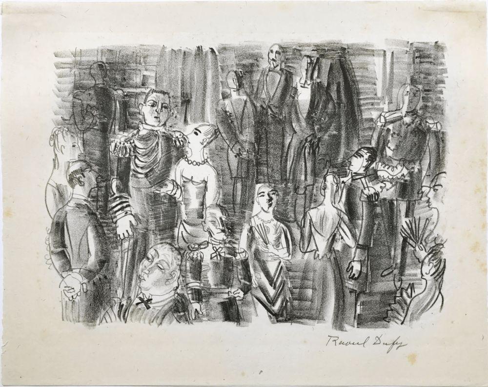 Lithographie Dufy - Le Bal chez L'Amiral