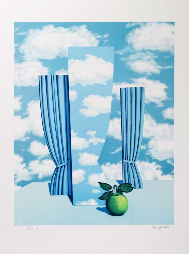 Lithographie Magritte - Le Beau Monde (The Beautiful World)