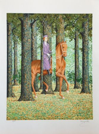 Lithographie Magritte - Le Blanc-Seing