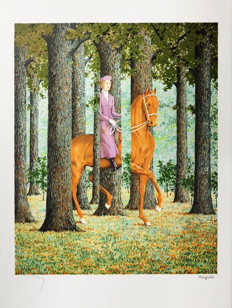 Lithographie Magritte - Le Blanc-Seing (The Blank Signature)