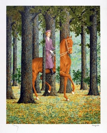 Lithographie Magritte - Le blanc seing