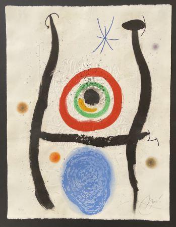Radierung Und Aquatinta Miró - Le Bleue de la Cible