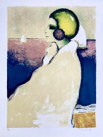 Lithographie Cassigneul  - Le Bonnet de Bain