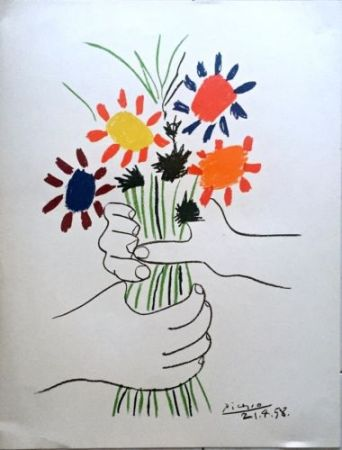 Lithographie Picasso - Le Bouquet De Fleurs