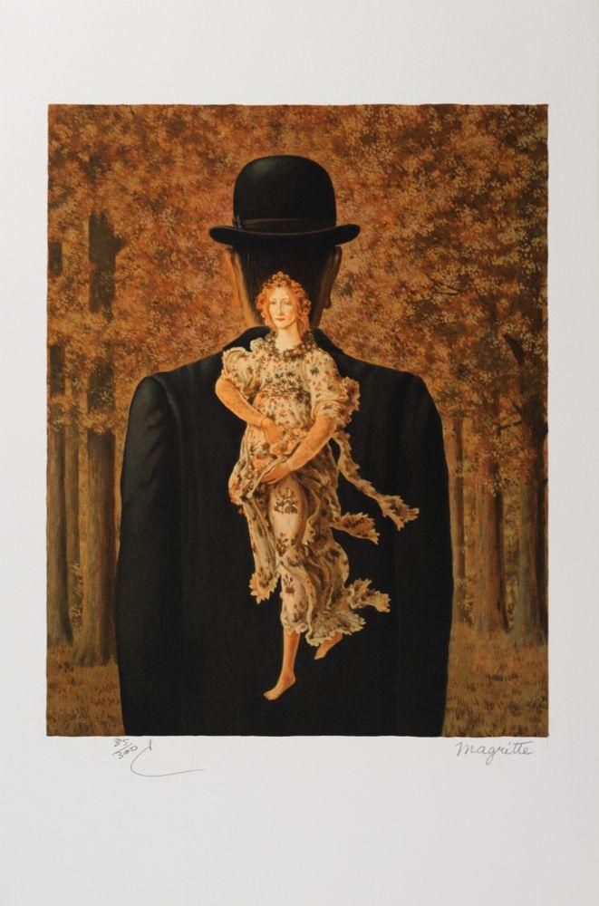 Lithographie Magritte - Le Bouquet tout fait (The Ready-Made Bouquet)