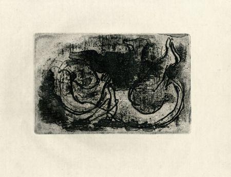 Radierung Fautrier - Le cadavre (Fautrier l'enragé)