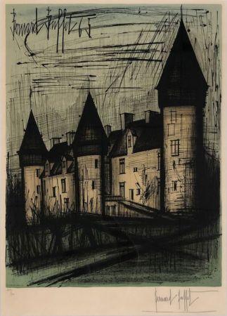 Lithographie Buffet - Le château de Culan