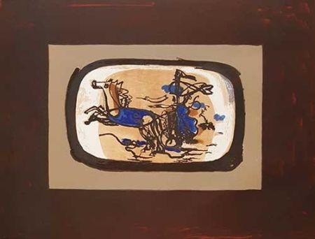 Lithographie Braque - Le Char