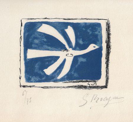 Lithographie Braque - Le ciel bleu