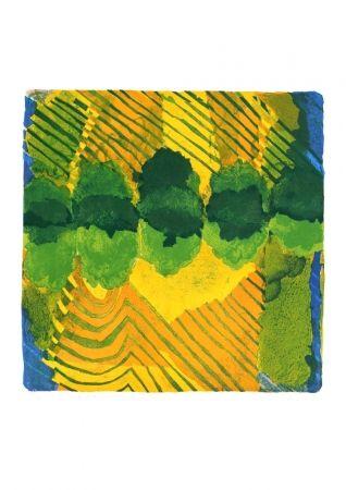 Lithographie Balas - Le cinquième enclos