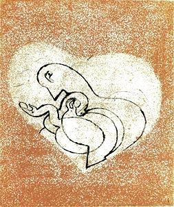 Kaltnadelradierung Ernst - Le Coeur À Gaz.