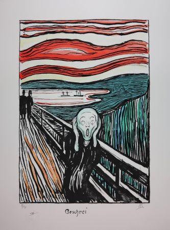 Lithographie Munch - LE CRI / THE SCREAM / GESCHREI - 1895