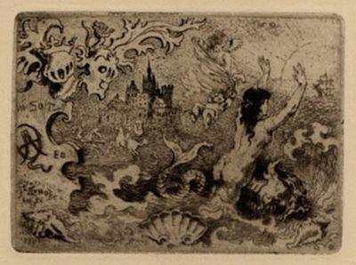Illustriertes Buch Buhot - Le diable amoureux