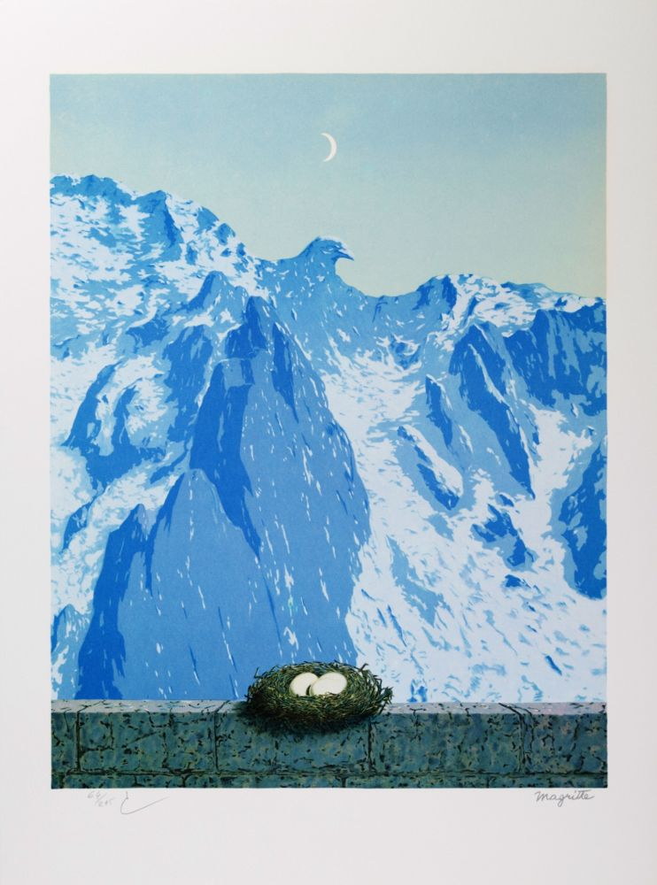 Lithographie Magritte - Le Domaine d'Arnheim (The Domain of Arnheim)