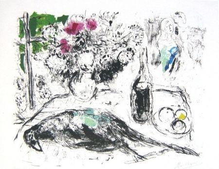 Lithographie Chagall - Le faisan