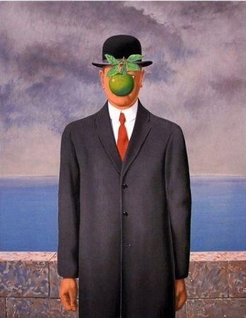 Lithographie Magritte - Le fils de l'homme