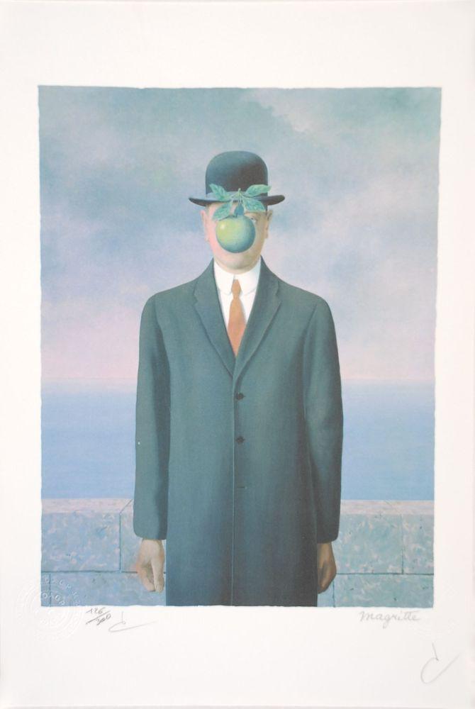 Lithographie Magritte - Le Fils de l'Homme - The Son of Man