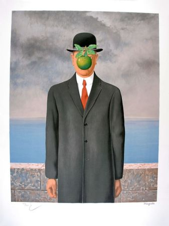 Lithographie Magritte - Le Fils de l'Homme - The Son of Man