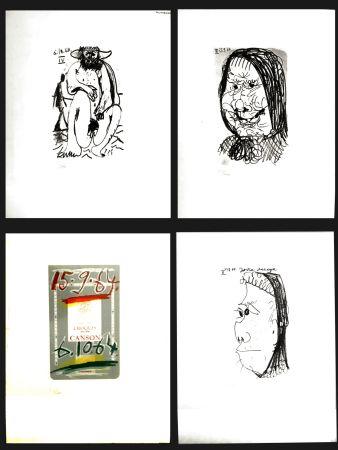Lithographie Picasso - LE GOUT DU BONHEUR (4 PIECES)