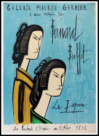 Plakat Buffet - LE JAPON - GALERIE MAURICE GARNIER