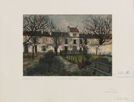 Holzschnitt Utrillo - Le Jardin de Montmagny