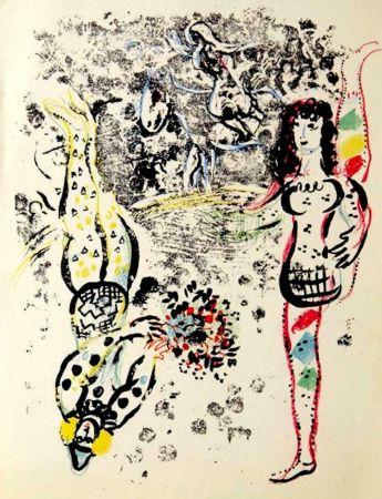Lithographie Chagall - Le Jeu des Acrobates