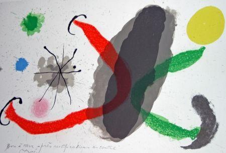 Lithographie Miró - Le lézard aux plumes d'or