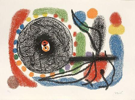 Lithographie Miró - Le Lezard aux plumes d'or (The Lizard with Golden Feathers), Pl. 10