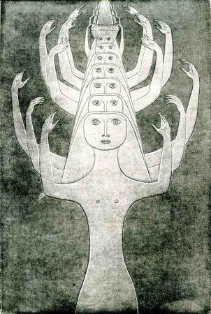 Radierung Prinner - Le Livre des morts des Anciens Egyptiens.