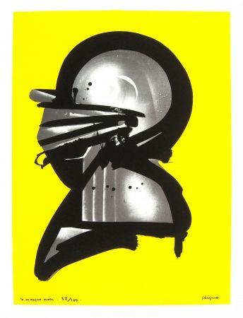 Lithographie Kijno - Le masque noir