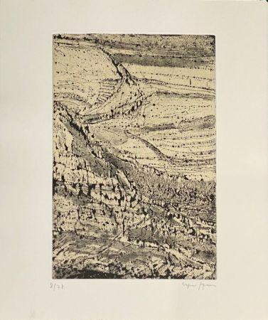 Radierung Szenes - Le monde de l'art n'est pas le monde du pardon