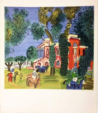Lithographie Dufy - LE PADDOCK À DEAUVILLE (1930)