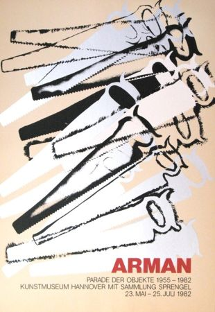 Siebdruck Arman - '' Le Parade des Objets ''