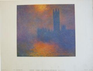 Plakat Monet - Le parlement à Londres