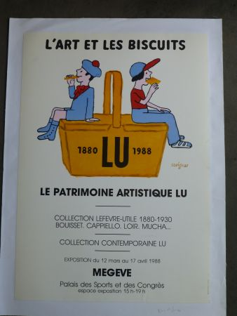 Plakat Savignac - Le patrimoine artistique LU ,l'art et les biscuits