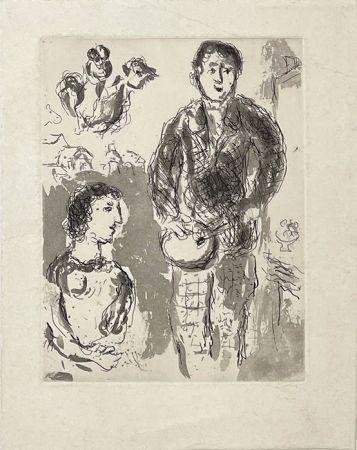 Stich Chagall - Le peintre et son modèle