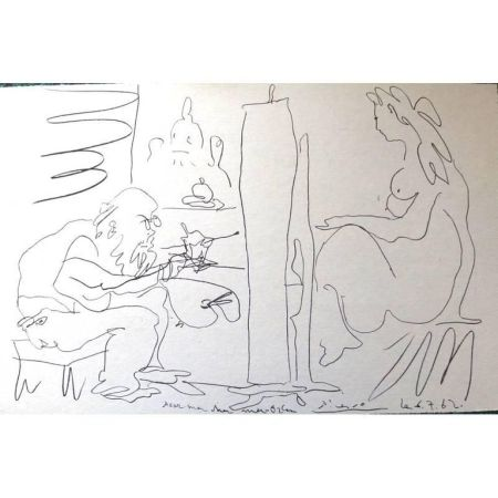 Lithographie Picasso (After) - Le Peintre et son Modèle
