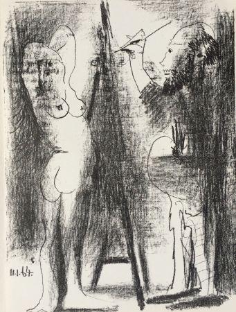 Lithographie Picasso - Le Peintre et son Modele (B. 1846)