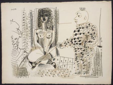 Lithographie Picasso - Le Peintre et son Modele (B 765)