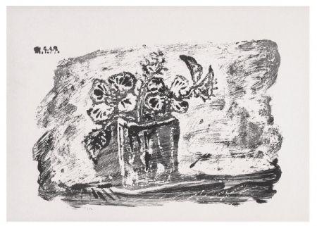 Lithographie Picasso - Le Petit Pot de Fleurs
